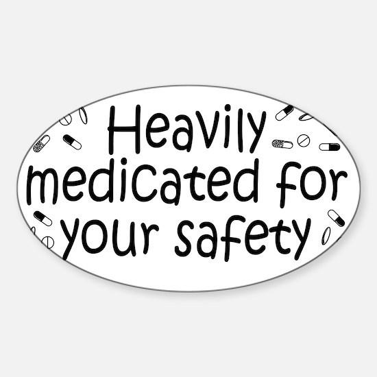 medicated_btle1 Sticker (Oval)