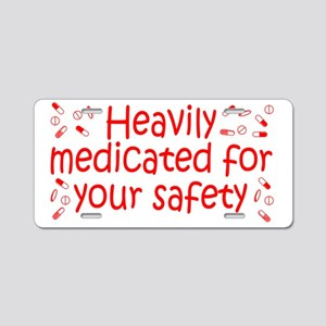 medicated_btle2 Aluminum License Plate