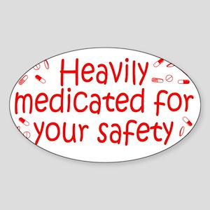 medicated_btle2 Sticker (Oval)