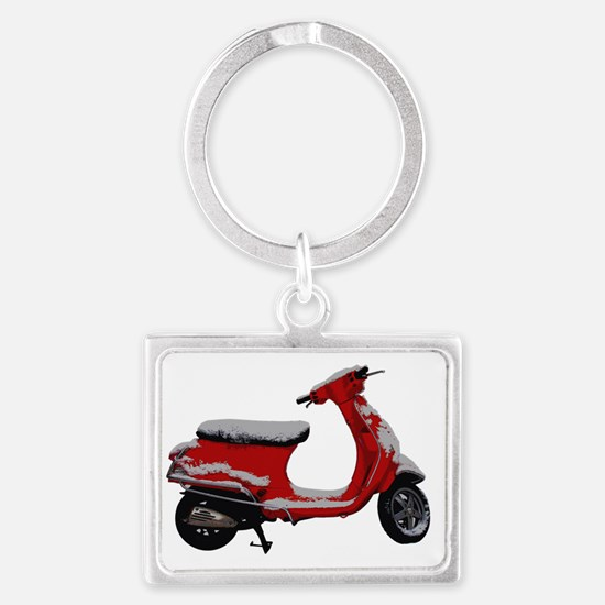 Scooter Snow Landscape Keychain
