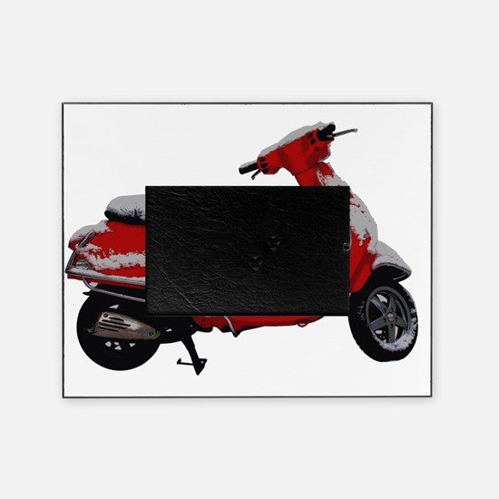 Scooter Snow Picture Frame