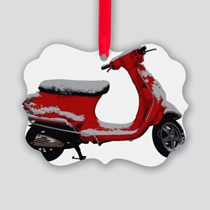 Scooter Snow Picture Ornament
