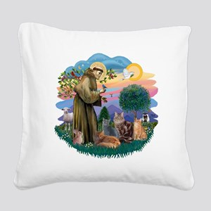St Francis (ff) - Rev 2 - 4 c Square Canvas Pillow