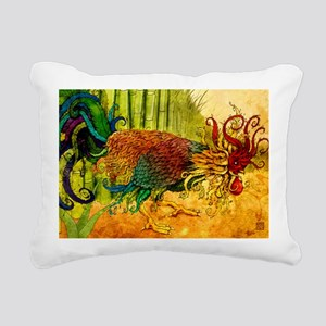 rooster11x17 posters Rectangular Canvas Pillow