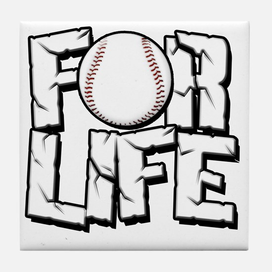 For Life Baseball Tile Coaster