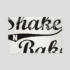 Shake and Bake Black Rectangle Magnet