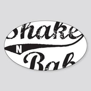 Shake and Bake Black Sticker (Oval)