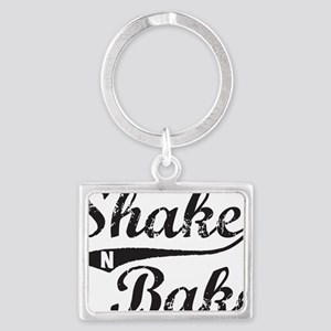 Shake and Bake Black Landscape Keychain