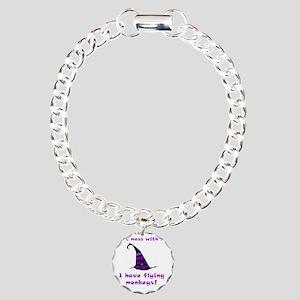 Flying Monkeys Purple Charm Bracelet, One Charm