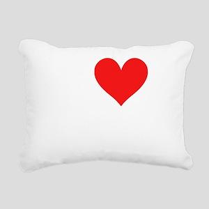 I Heart The Bachelor dar Rectangular Canvas Pillow