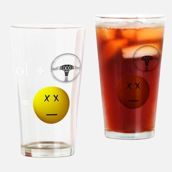 lol+driveBLACK Drinking Glass