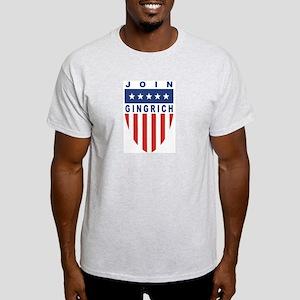 Join Newt Gingrich Ash Grey T-Shirt