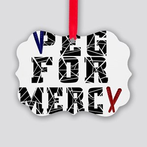 Peg For Mercy Picture Ornament