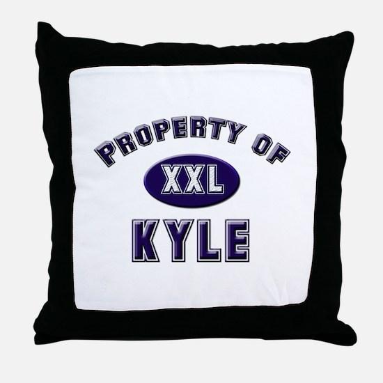 Property of kyle Throw Pillow