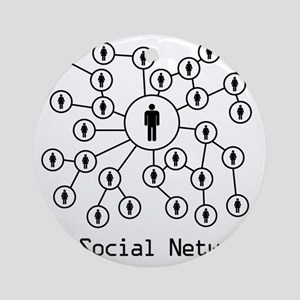 My_Social_Network_His Round Ornament