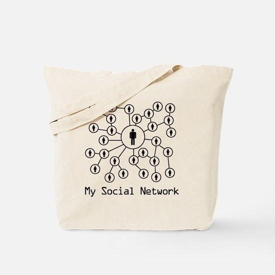 My_Social_Network_His Tote Bag