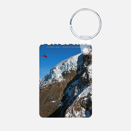 Jungfrau - Helicopter Aluminum Photo Keychain