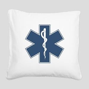 EMTBlogo_darkfab Square Canvas Pillow