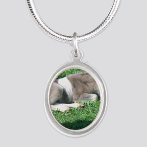 CorbanCP Silver Oval Necklace