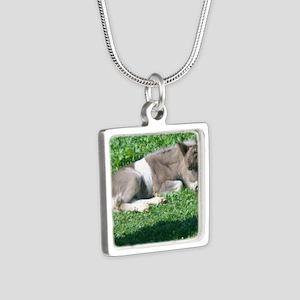 CorbanCP Silver Square Necklace
