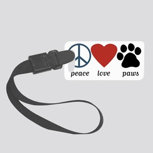 Peace Love Paws Small Luggage Tag