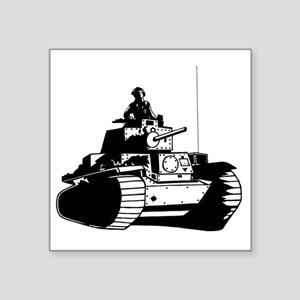 "panzer Square Sticker 3"" x 3"""