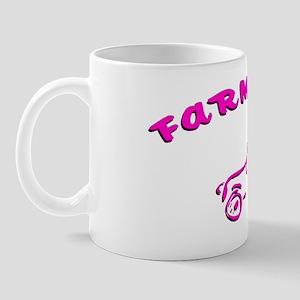 Pink Farm girl Mug