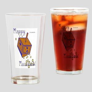 Dreidel Gold Drinking Glass