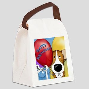 CorgiBDayCard Canvas Lunch Bag