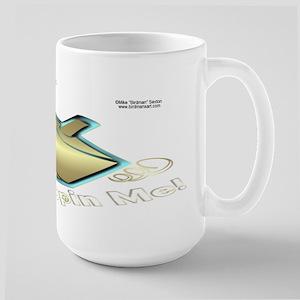 Spin Me Hanukkah Large Mug