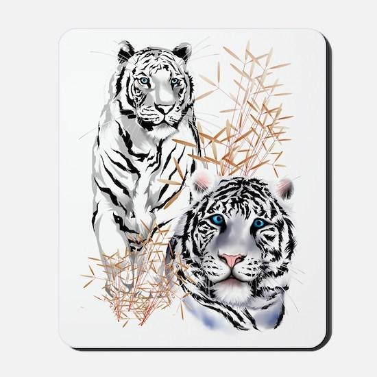 White Tigers Trans Mousepad