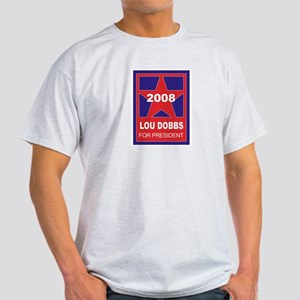 Lou Dobbs for President (star Ash Grey T-Shirt