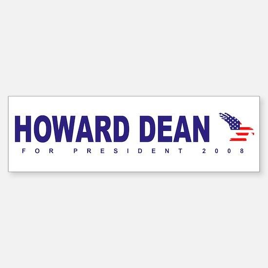 Howard Dean for president Bumper Bumper Bumper Sticker