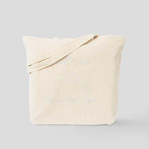 Peace Love Yoga White Tote Bag