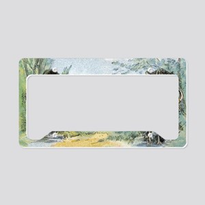 Wild Boars License Plate Holder