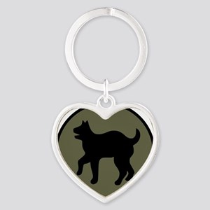 81st Infantry Division Heart Keychain