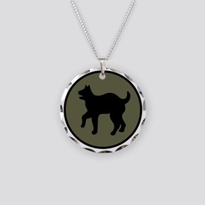 81st Infantry Division Necklace Circle Charm