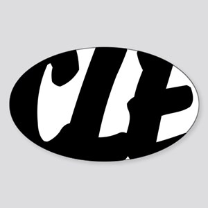 CLE Brushed W Sticker (Oval)