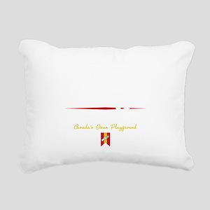 Halifax Script B Rectangular Canvas Pillow