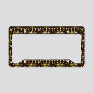 MGPearlCrownBrPtHz License Plate Holder