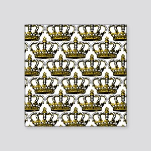 "MGPearlCrownPatMp Square Sticker 3"" x 3"""
