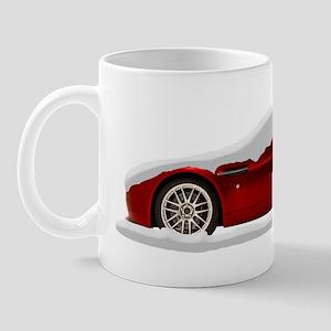 Snow Covered V8 Vantage Aston Martin Mug