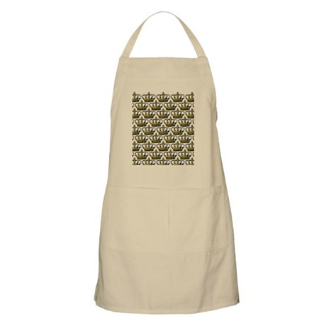 Crown Gold Pearls Apron