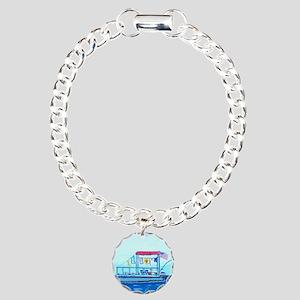 Pontoon Lagoon Charm Bracelet, One Charm