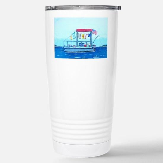 Pontoon Lagoon Stainless Steel Travel Mug