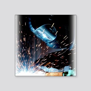 "Welders Do It Hotter 50 inc Square Sticker 3"" x 3"""