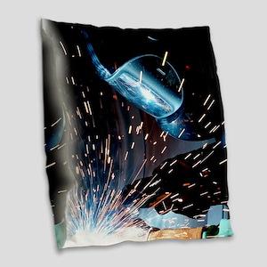Welders Do It Hotter 50 inches Burlap Throw Pillow