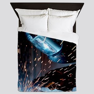 Welders Do It Hotter 50 inches wide x  Queen Duvet