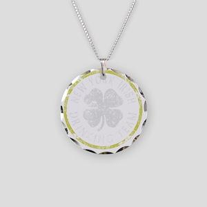 New York Irish Drinking Team Necklace Circle Charm