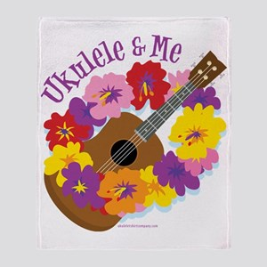 Ukulele and Me Throw Blanket